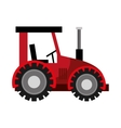 Farm tractor vechicle isolated flat icon vector image vector image