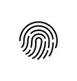 fingerprint iconsymbol for graphic and web design vector image vector image