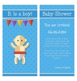 flat design cute baby shower template vector image vector image