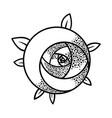 geometric rose flower art deco style inspired vector image