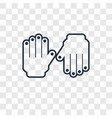 gloves concept linear icon isolated on vector image