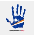 Handprint with the Flag of Marshall Islands in vector image