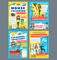 house cleaning and laundry service vector image vector image