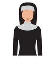 isolated nun avatar vector image