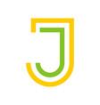 j letter logo design vector image