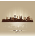 Leicester England skyline city silhouette vector image vector image