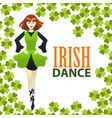 light irish dance studio template in cartoon style vector image vector image