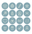 line christmas icons for web and applications vector image
