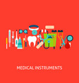 medical instruments concept vector image vector image