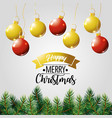 merry christmas holiday poster decoration vector image vector image