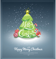 Merry Christmas post card vector image vector image