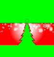 merry christmas red vintage background with green vector image vector image