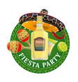mexican fiesta party sombrero maracas and chilli vector image vector image