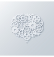 modern concept bubble speech and gears vector image vector image