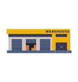 modern warehouse building industrial construction vector image vector image