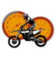 motorbike rider abstract silhouette road vector image vector image