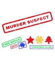 Murder Suspect Rubber Stamp vector image vector image