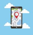navigation smartphone pin map destination vector image vector image