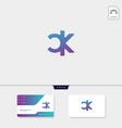 premium initial ck kc c or k creative logo vector image vector image
