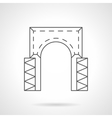 Rectangular arch flat line icon vector image vector image