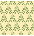 Seamless Christmas pattern Trees firs on light vector image