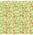 seamless cranberries stylized background pattern vector image vector image
