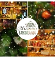 Set of blurred Christmas backgrounds vector image vector image
