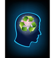 Smart thinking to recycle vector image vector image