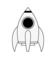 spaceship rocket cartoon vector image vector image