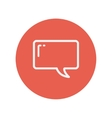 Speech bubble thin line icon vector image vector image