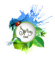 spring background texture banner vector image
