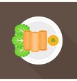 Spring roll vector image vector image
