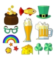 st patrik food objects vector image