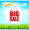 summer selling ad banner big sale holiday vector image vector image