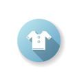 t shirt blue flat design long shadow glyph icon vector image vector image