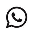 telephone icon vector image vector image