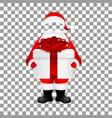 Template Santa Claus to insert a human face vector image vector image
