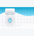toilet bowl with open cover vector image