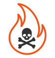 toxic fire flat icon vector image