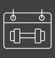 training schedule line icon fitness and sport vector image vector image