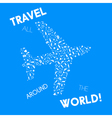 Travel Airplane 2 vector image vector image