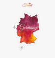 Travel around the world Germany Watercolor vector image