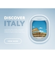 Traveling by plane Landmarks in the window vector image vector image