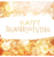 Typography Happy Thanksgiving greeting card Autumn vector image vector image