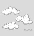 variety white clouds set vector image vector image