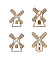 windmill icon design set bundle template isolated vector image vector image