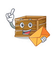with envelope crate character cartoon style vector image