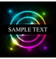Abstract colorful glow background with rings vector image