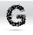 Letter G formed by inkblots vector image