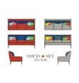 Sofas Set Furniture for Your Interior Design vector image